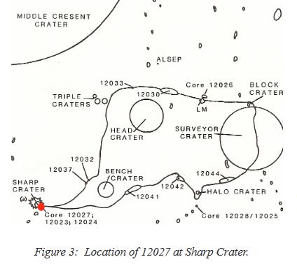 Apollo 12 sample 12027 location